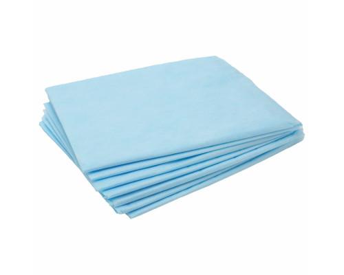 Простыни InGarden в сложении 80х200см, голубые, 20 шт/упак.